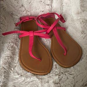 Hot Pink Strappy Gladiator Sandals